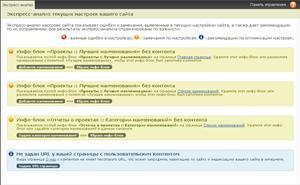 Экспресс-анализ сайта подсчитывает ошибки на вашем сайте